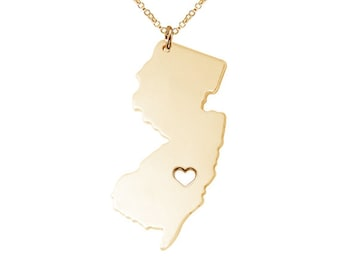 Tiny new jersey state charm necklacenj state charm necklace nj state necklacegold new jersey state necklace nj state charm necklace state aloadofball Images