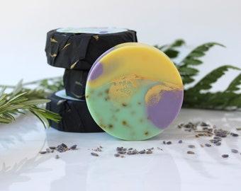 Lavender Handmade Soap - Made with Essential Oils, Cold Process Soap, Artisan Vegan Soap