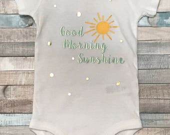 onesie, Good morning sunshine, newborn onesie, sunshine, coming home outfit, baby clothes, cute baby clothes
