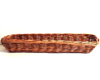 French Vintage Wicker Baquette Basket/French Vintage Bread Basket/Vintage Bread Basket/Long Wicker Bread Basket