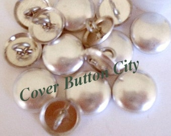 50 Cover Buttons Size 36 (7/8 inch) - Wire Backs