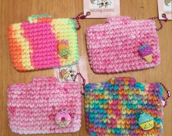 Mini Super Awesome All Purpose Crochet Pouch - Cute Food - your choice!