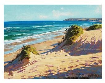 Malerei print Wandkunst druckt aus meinem Original Ölgemälde Beach Art
