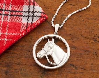 Silver horse pendant horses head necklace silver and sterling silver horse pendant silver equestrian jewelry sterling silver horse jewelry 1 in diameter 693s aloadofball Gallery