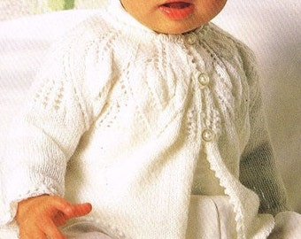 1d76a685e No.117 PDF Vintage Knitting Pattern Baby s Tailored Jacket w Ribbon ...