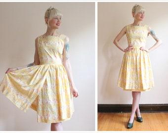 1950s Dress // Sunburst Kay Juniors Dress // vintage 50s dress