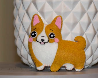 Mini plush corgi dog