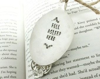 Fell Asleep Here Bookmark, Spoon Bookmark, Gift for Reader, Gift for Book Lover