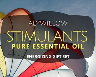Essential Oil STIMULANTS Gift Set || PURE Rosemary, Peppermint, and Grapefruit || Energizing || Great for Diffusers || Start your day right!