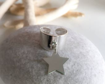 Star 925 sterling silver ring pendant
