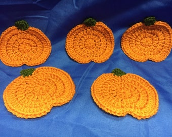 Pumpkin Coaster Crochet Pattern