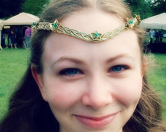 Elven Ivy Leaf Celtic Circlet 3 Weave
