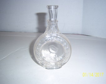 1890's Medieval Knight Perfume or tonic bottle 5 5/8  inches tall