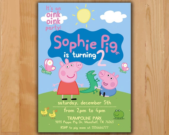 Comprehensive image within peppa pig printable invitations