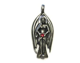 Pewter Gothic Goddess Pendant