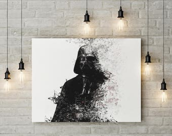 Star Wars Wall Art, Star Wars Digital Art, Darth Vader Poster, Home Decor, Wall art, Printable Poster, Digital Art, Star Wars Poster, Prints