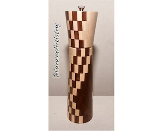 Deluxe Handcrafted Peppermill made from Segmented Woods - P74