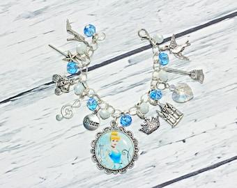 Princess Cinderella Inspired Charm Bracelet