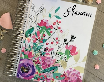 Planner Cover for Erin Condren Planner, Happy Planner, Recollections Planner, A5 dashboard, planner insert, floral, pink, purple, tropical