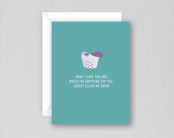 Laundry Mother's Day Card | Funny Mother's Day Card