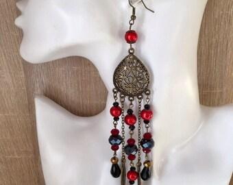 Romantic antic long bohemian earrings