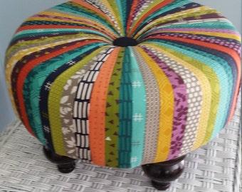 Tuffet footstool completely handmade.
