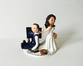 crazy wedding cake toppers wedding cake topper dragging groom custom 13047