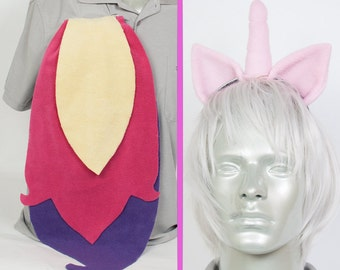 Princess Cadence Adjustable Ears and/or Tail - buy as a set or separate! Costume sized for Kids or Adults