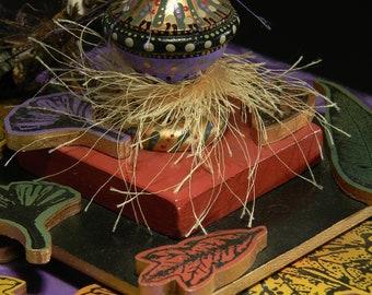 Handmade Urn, Leaf, Autumn, Vessel, Box