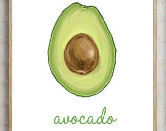 70% kitchen wall decor, avocado print, kitchen avocado decor, printable avocado , kitchen decor, printable kitchen , home decor, avocado
