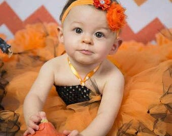 Halloween Tutu dress in tulle for girl