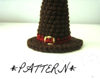 PATTERN - Pilgrims Hat Crocheted in Amigurumi - Instant Download - by lostsentiments