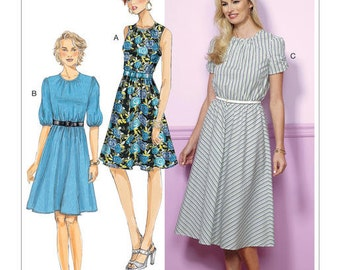Butterick Pattern B6450 Misses'/Misses' Petite Gathered, Blouson Dresses