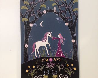 medieval tapestry unicorn  notebook journal