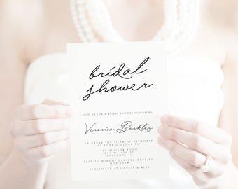 Bridal shower invitation, bridal shower bridal shower invitation, elegant bridal shower