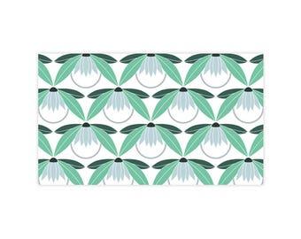 Lotus Lake - Little Notes - Set of 10 Enclosure Cards, Envelopes, Gold Closure Stickers - Lotus - Flower - Pattern - (LN408)