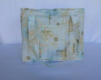 Shopping Tote Bag , Japanese Print, Japanese Script, Shopping Bag, Shopper Tote, Market Bag, Shoulder Bag, Bag, Designer Tote