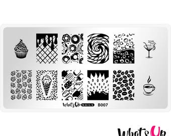 B007 Sugar High Stamping Plate For Stamped Nail Art Design