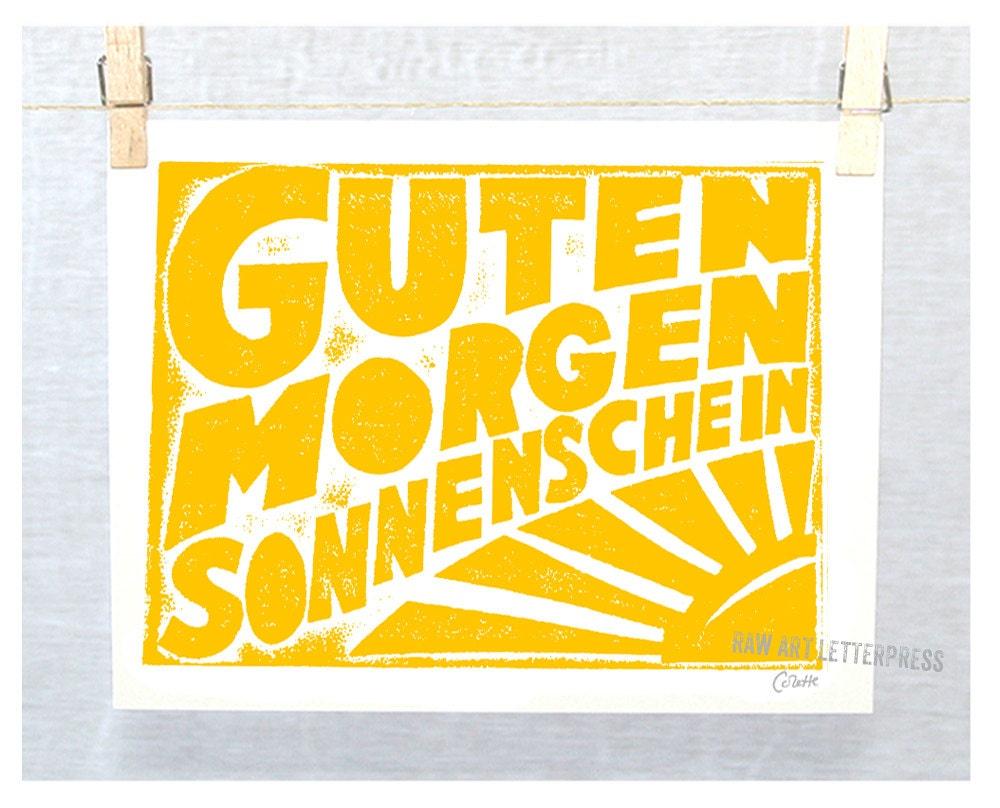 Guten Morgen Sonnenschein German Good Morning Sunshine