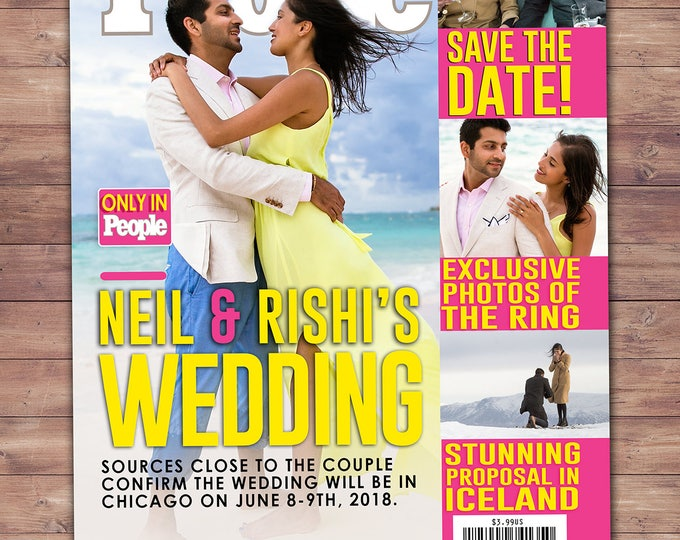 MAGAZINE wedding, pregnancy announcement, baby announcement, wedding, gift, special event, retirement. save the date, Digital file only
