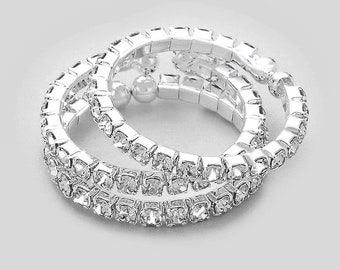 Nia 3 Piece Rhinestone Open Stack Rings for IFBB, NPC, and OCB Bikini Fitness Competitions
