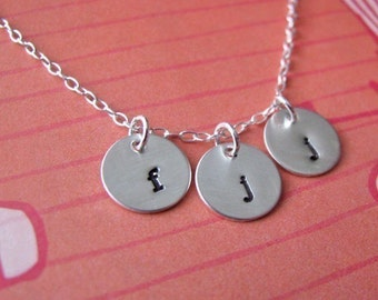 custom tiny round charm necklace