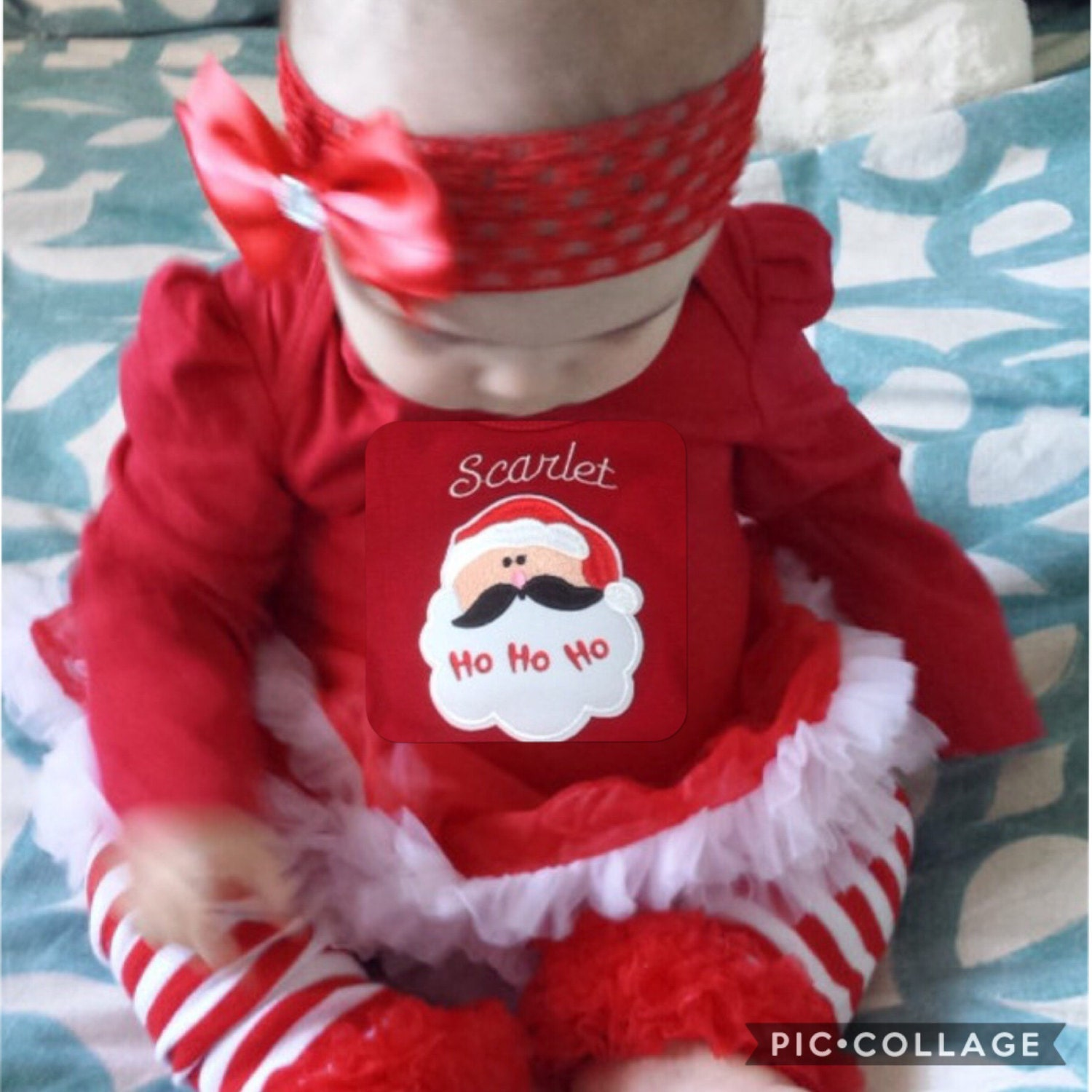 Santa Baby Christmas Outfit Red Baby Christmas Dress Babys