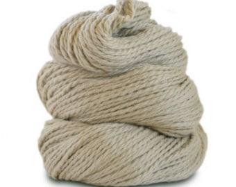 Organic Cotton Yarn Worsted, 150 Yards, Stone