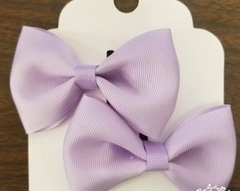 Tuxedo hair bow 3 1/2 inch (CHOOSE YOUR COLOR)