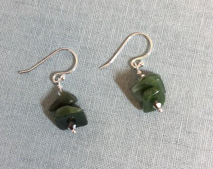 New Zealand jade earrings