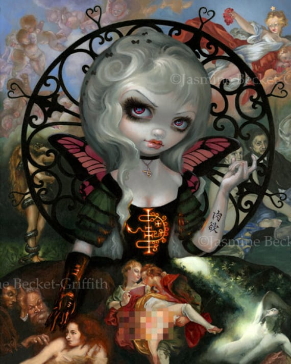 Unseelie Court Lust Dark Fairy Art Print By Jasmine