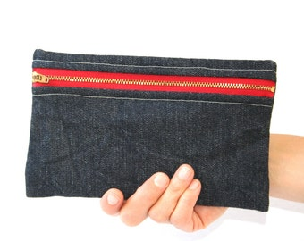 Denim Zip Pouch