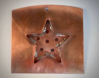 Copper Wall Art | Rustic Kitchen Decor | Copper Cookie Cutter | Country Home Decor | Rustic Wall decor | Metal Wall Art | Flat Backed Star