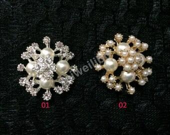 Pearl Rhinestone Button ,Pearl Rhinestone , Embellishment,Diy Supply